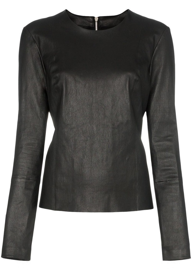 Helmut Lang zip-back leather top