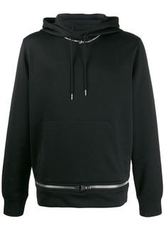 Helmut Lang zip-embellished hoodie