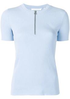 Helmut Lang zip front knit T-shirt