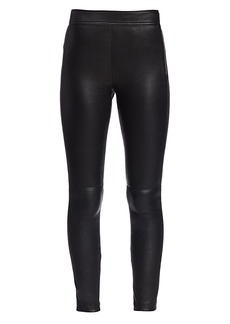 Helmut Lang Zip Leather Leggings