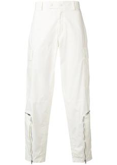 Helmut Lang zipped hems trousers