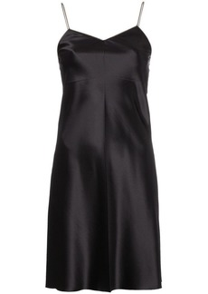 Helmut Lang zipper slip dress