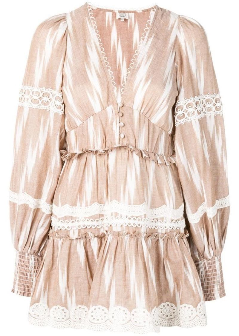 57715dc00e Hemant And Nandita embroidered mini dress