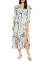 Hemant And Nandita Hemant & Nandita Crinkle Rayon Cover-Up Dress