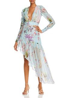Hemant and Nandita Liv Asymmetric Floral-Print Dress