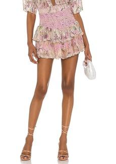 HEMANT AND NANDITA Neem Shirred Skirt