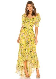 HEMANT AND NANDITA Satin Stripe Dress