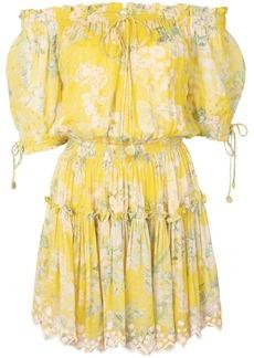 9543ed5f7b701 Hemant And Nandita HEMANT AND NANDITA Blush Shimmer Georgette Dress ...