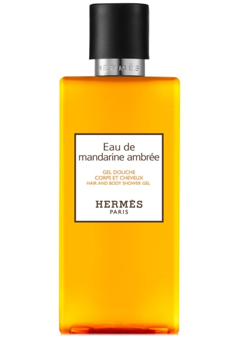 HERMES Eau de Mandarine Ambree Hair & Body Shower Gel, 6.7-oz.