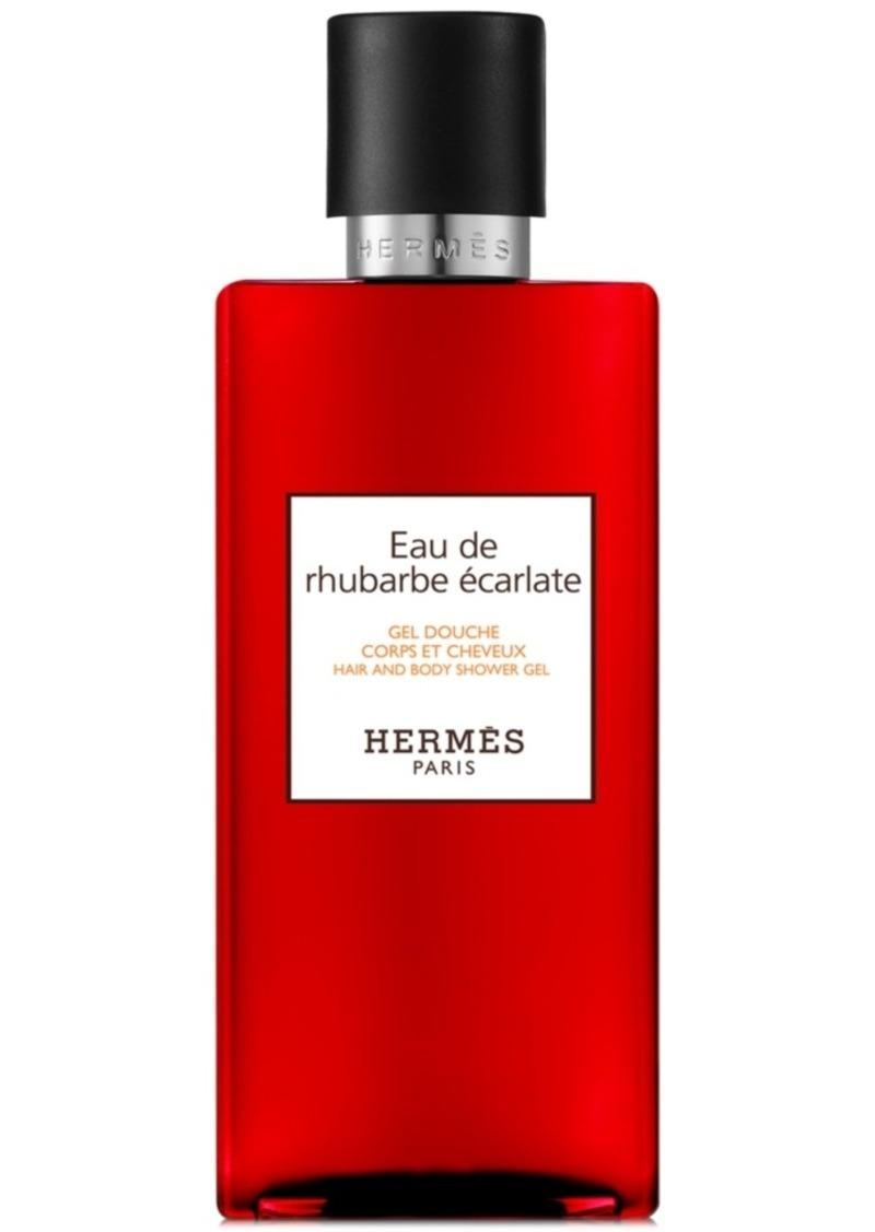 HERMES Eau de Rhubarbe Ecarlate Hair & Body Shower Gel, 10-oz.