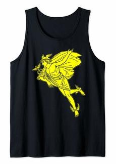 Hermes God Vintage Gift Hermes Caduceus Greek Mythology Tank Top