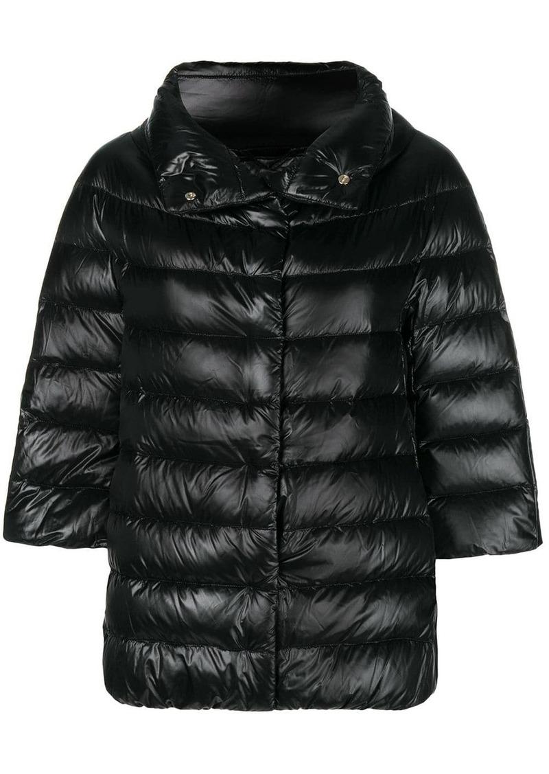 3/4 sleeve puffer jacket