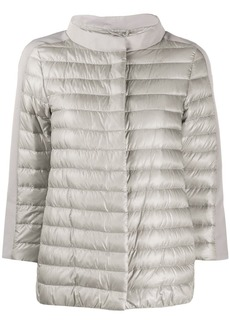 Herno crop sleeved padded jacket