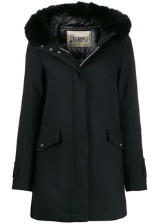Herno faux fur trim hooded jacket