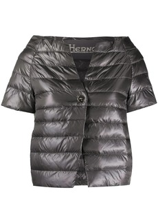 Herno feather down cropped puffer jacket