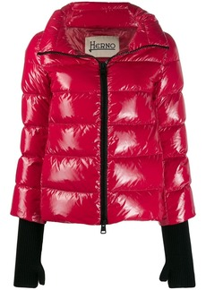 Herno glove detail puffer jacket