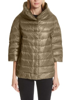 Herno Aminta Quilted Down Crop Puffer Jacket