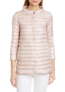 Herno Classic High/Low A-Line Down Puffer Jacket