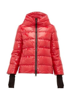 Herno Funnel-neck quilted-shell jacket