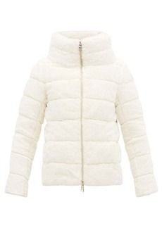 Herno High-neck down-filled faux-fur padded jacket