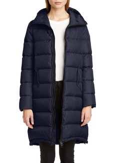 Herno High/Low Quilted Down Long Puffer Coat