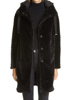 Herno Hooded Down Faux Fur Coat