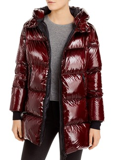 Herno Hooded Glossy Down Puffer Coat