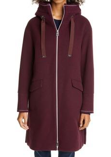 Herno Hooded Long Wool Blend Coat