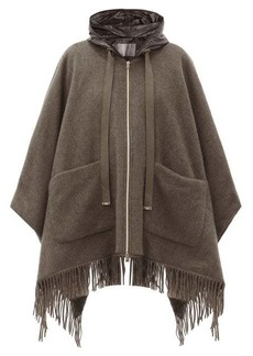 Herno Hooded quilted shell-lined wool cape