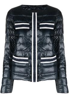 Herno metallic threading puffer jacket