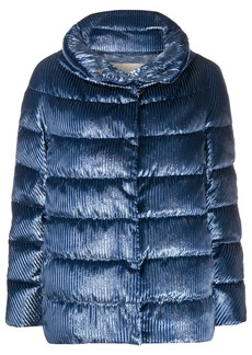 Herno vertical stripe padded jacket