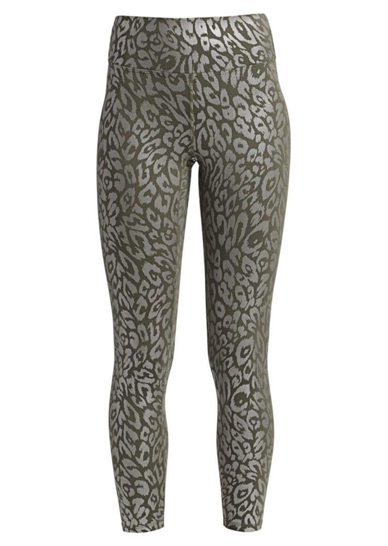 High-Waist Metallic Cheetah Print Leggings