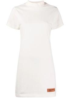 Heron Preston СТИЛЬ logo-embroidered T-shirt dress