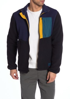 Herschel Supply Co. Colorblock Faux Shearling Zip Front Jacket