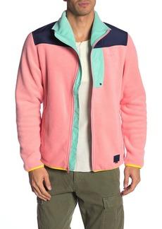 Herschel Supply Co. Colorblock Fleece Zip-Up Jacket