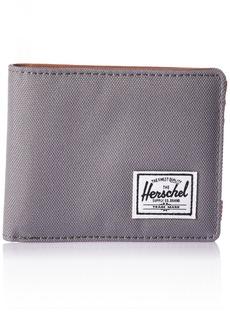 Herschel Supply Co. Men's Hank Wallet Grey/Tan Synthetic Leather RFID