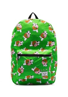 Herschel Supply Co. lime green Snoopy print dual compartment backpack