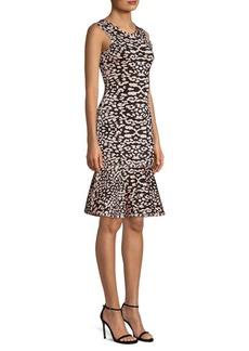 Herve Leger Animal Print Sheath Dress
