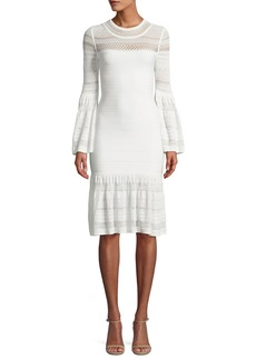 Herve Leger Bell-Sleeve Bandage Knit Dress