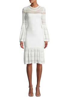 Herve Leger Bell-Sleeve Bandage Knit Dress
