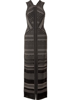 Herve Leger Cutout Pointelle-trimmed Bandage Gown