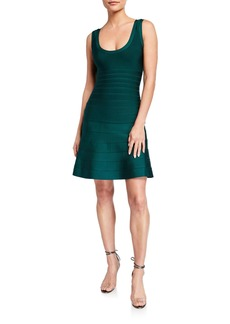 Herve Leger Fit-and-Flare Bandage Dress