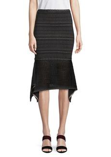 Herve Leger Geometric Midi Skirt