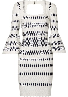 Herve Leger Stretch Jacquard-knit Dress