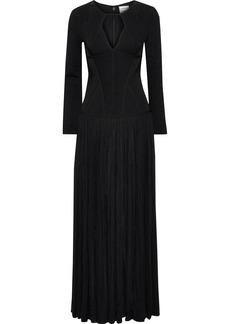 Herve Leger Hervé Léger Woman Amelie Cutout Bandage And Embellished Mesh Gown Black