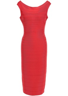 Herve Leger Hervé Léger Woman Ardell Open-back Bandage Dress Tomato Red