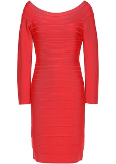 Herve Leger Hervé Léger Woman Candice Off-the-shoulder Bandage Mini Dress Tomato Red