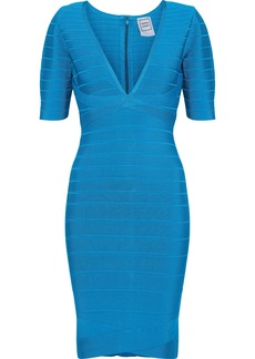 Herve Leger Hervé Léger Woman Bandage Mini Dress Azure