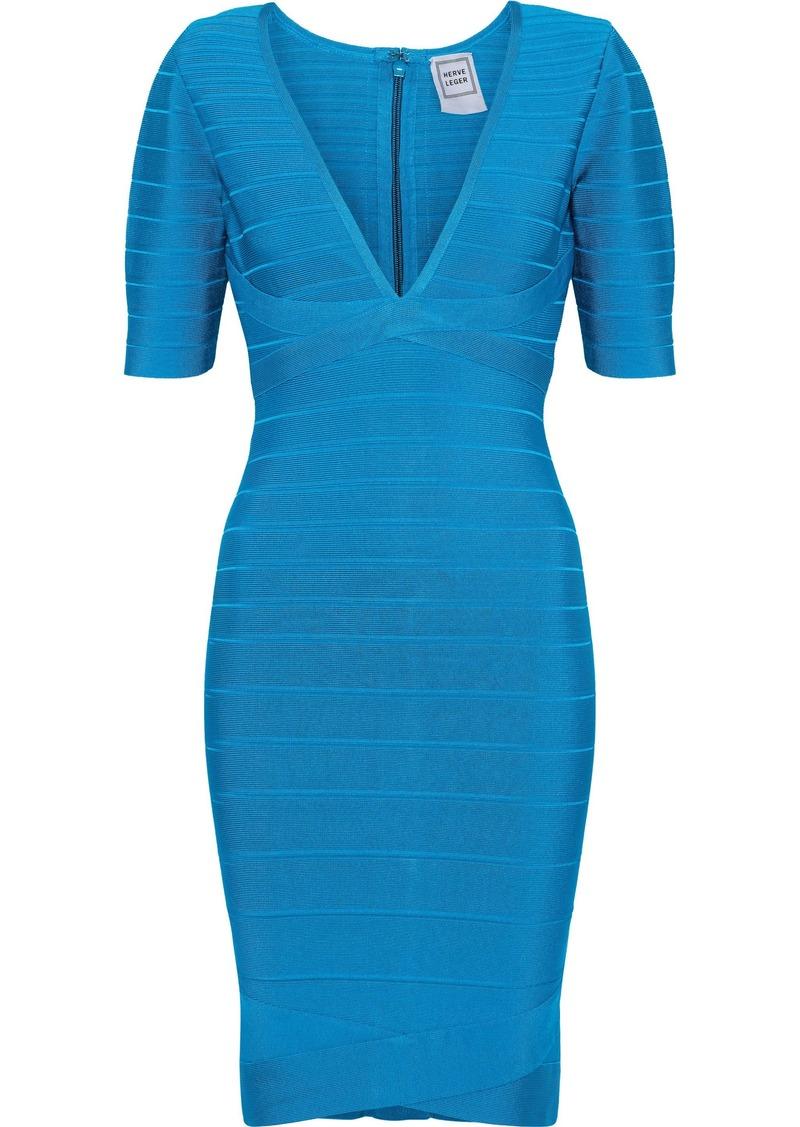 Herve Leger Hervé Léger Woman Bandage Mini Dress Azure