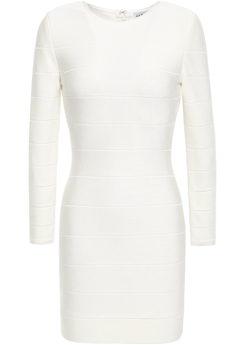 Herve Leger Hervé Léger Woman Bandage Mini Dress Ivory